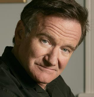 Robin Williams in an atypical serious pose.