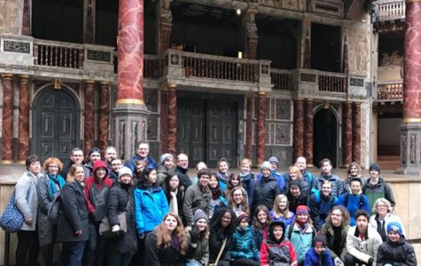 The London group at the Globe Theater