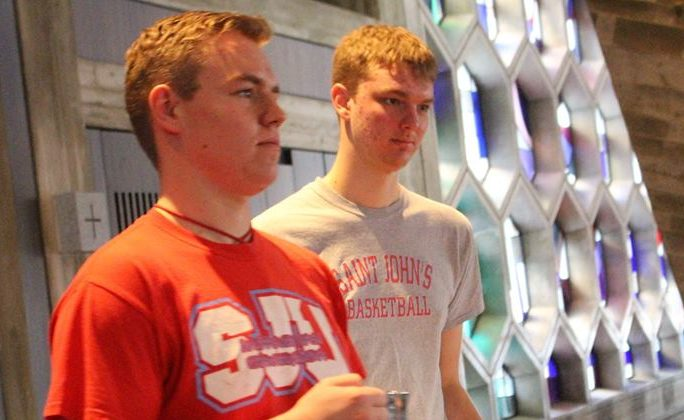 Prep Seniors Nick Foss and Kevin Stark-Haws contemplate the remainder of the school year.